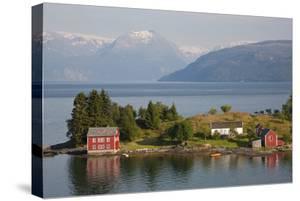 Small Island in Hardangerfjorden Nr Bergen, Western Fjords, Norway by Peter Adams