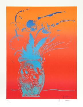 Blue Vase by Peter Max