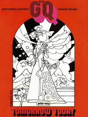 GQ Cover - February 1970 by Peter Max