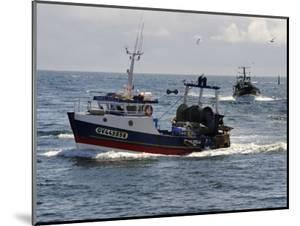 Fishing Boats Returning to Harbour, Guilvinec, Finistere, Brittany, France, Europe by Peter Richardson