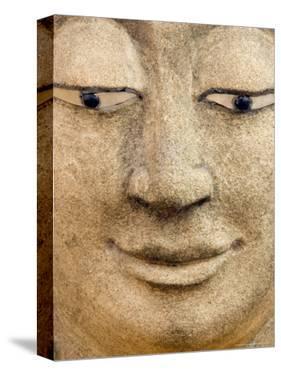 Smiling Buddha Head Statue, Temple, Bangkok, Thailand, by Philip Kramer