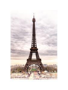 eiffel tower paris france white frame and full formatphilippe hugonnard - Eiffel Tower Picture Frame
