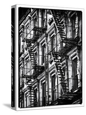 Lifestyle Instant, Fire Staircase, Black and White Photography Vintage, Manhattan, NYC, US by Philippe Hugonnard