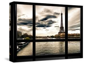 Window View, Special Series, the Eiffel Tower and Seine River Views, Paris, France, Europe by Philippe Hugonnard