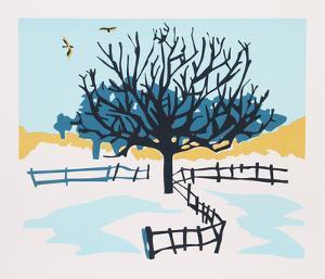 Snowy Fence by Phyllis Sussman