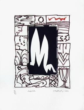 Majuscule by Pierre Alechinsky