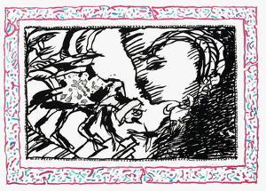 Sans L'Écorce G by Pierre Alechinsky