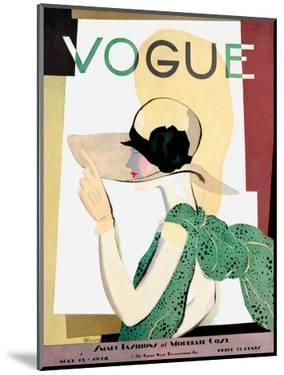 Vogue Cover - May 1928 - Smart Fashion by Pierre Mourgue