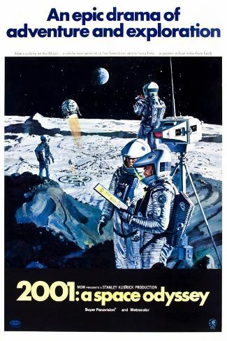 2001: A Space Odyssey (aka Two Thousand and One: a Space Odyssey) Kunsttrykk