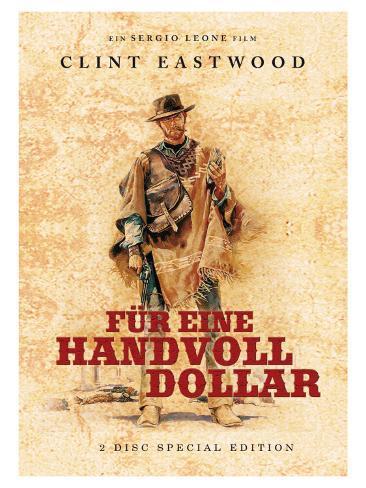 A Fistful of Dollars, German Movie Poster, 1964 Kunsttryk