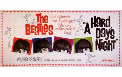 A Hard Day's Night, på engelsk Masterprint