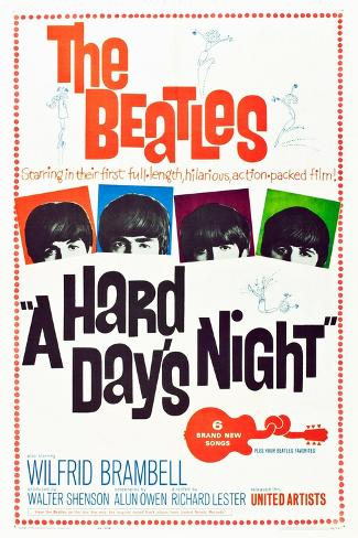 A Hard Day's Night, the Beatles, 1964 Kunsttryk