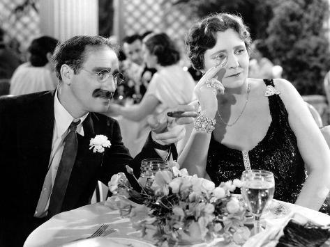 A Night At The Opera, Groucho Marx, Margaret Dumont, 1935 Foto