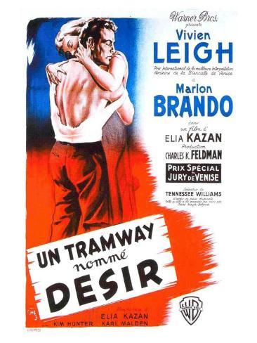 A Streetcar Named Desire, French Movie Poster, 1951 Kunsttrykk