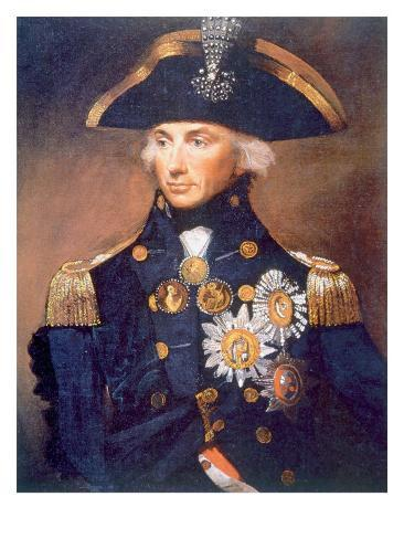 Admiral Horatio Nelson, Portrait from the National Maritime Museum in London by Lemuel Abbott, 1798 Foto