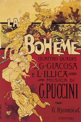 Puccini, La Boheme Opspændt lærredstryk