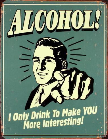 Alkohol! Blikkskilt