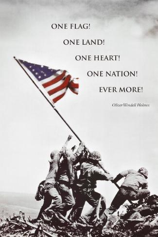 American Flag at Iwo Jima Plakat