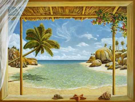 Seychelles View Kunsttryk