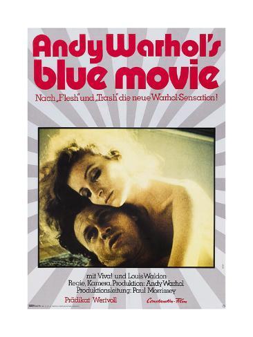 Andy Warhol's Blue Movie Giclée-tryk