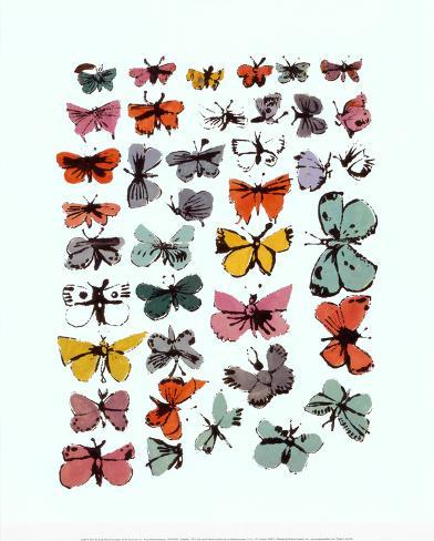 Sommerfugle, Butterflies, 1955 Kunsttryk