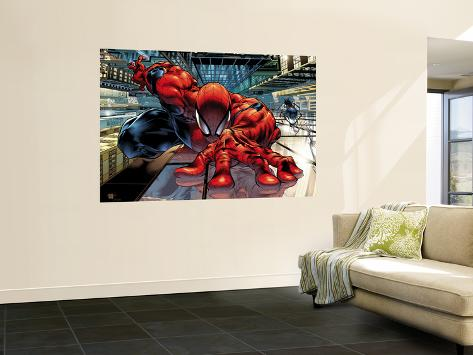 The Sensational Spider-Man No.23 Cover: Spider-Man Veggmaleri