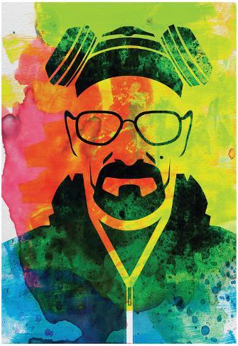 Walter White Watercolor 1 Plakat