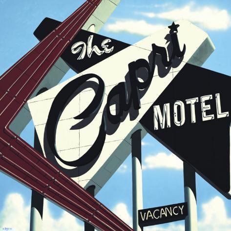 Capri Motel Kunsttryk