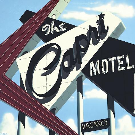 Capri Motel Opspændt lærredstryk