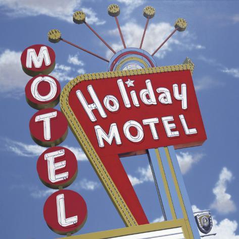 Holiday Motel Opspændt lærredstryk