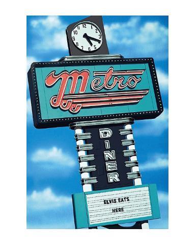 Metro Diner Kunsttryk