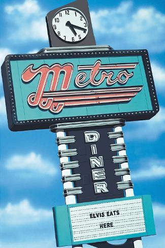 Metro Diner Opspændt lærredstryk