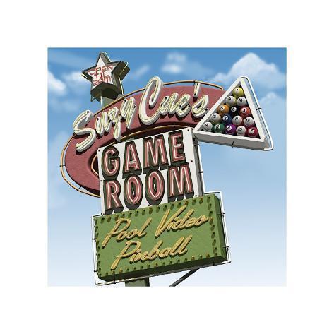 Suzy Cue's Game Room Giclée-tryk