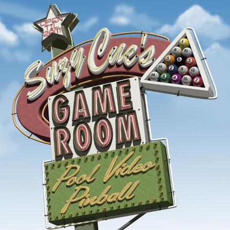 Suzy Cue's Game Room Opspændt lærredstryk