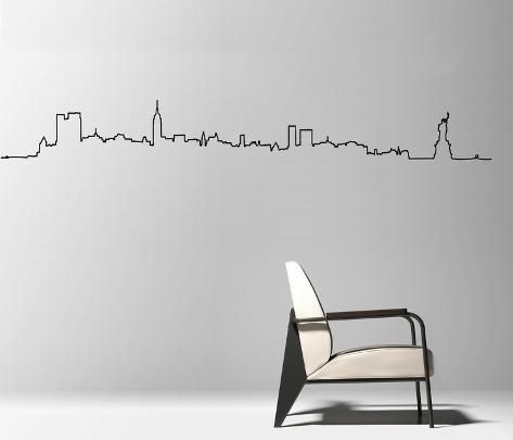 Skyline New York City sticker Veggoverføringsbilde