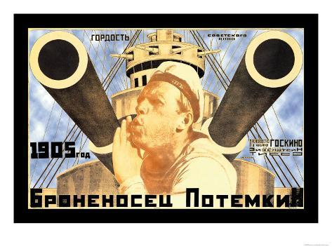 Battleship Potemkin 1905 Kunsttryk