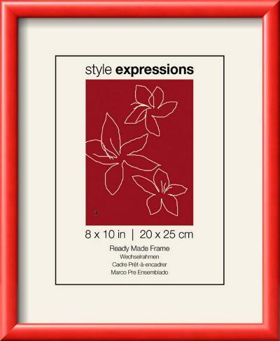 Artis Red Wood Frame Fits 20 x 25 cm Print Færdiglavet ramme