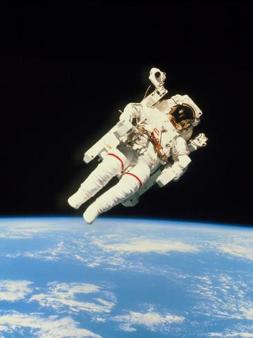 Astronaut Bruce McCandless Walking In Space Fotografisk trykk