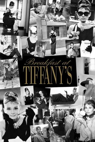 Audrey Hepburn, Frokost hos Tiffany, kollasj Plakat