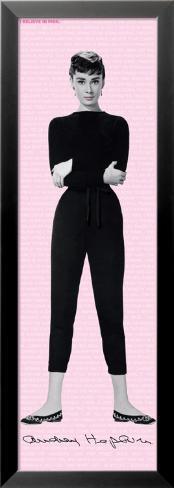 Audrey Hepburn-I Believe In Pink Indrammet lamineret plakat