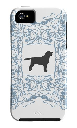Blue Lab Frame iPhone 5-cover