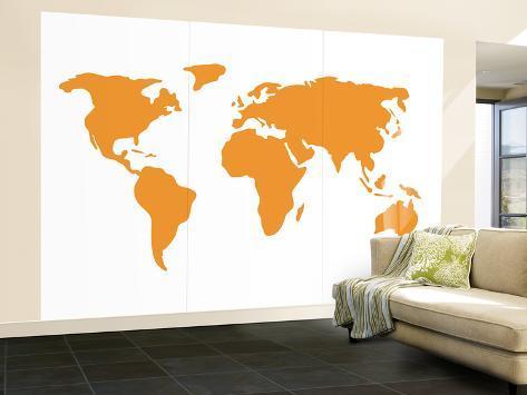 Orange World Veggmaleri – stort