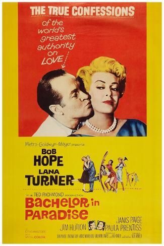 Bachelor in Paradise, from Left: Bob Hope, Lana Turner, 1961 Kunsttryk