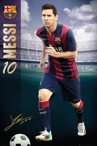 Barcelona - Messi 14/15 Plakat
