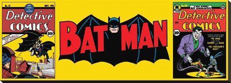 Batman-Triptych Opspændt lærredstryk