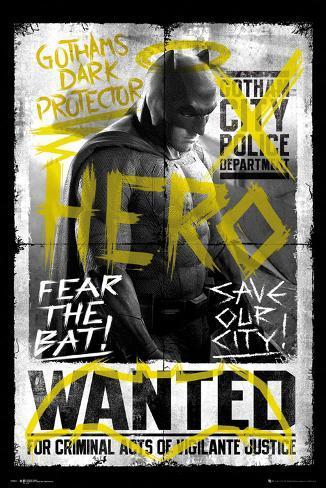 Batman vs. Superman- Batman Wanted Plakat