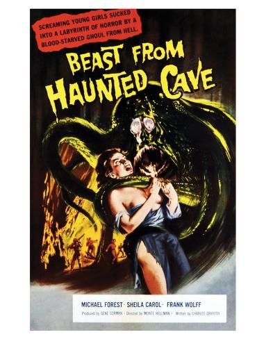Beast From Haunted Cave - 1960 I Giclee-trykk