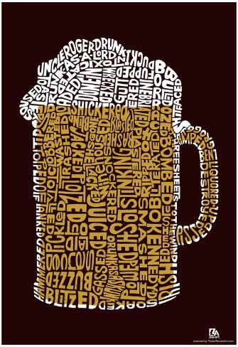 Beer Drinking Text Poster Plakat