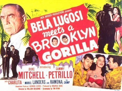 Bela Lugosi Meets a Brooklyn Gorilla, 1952 Premium Giclee-trykk