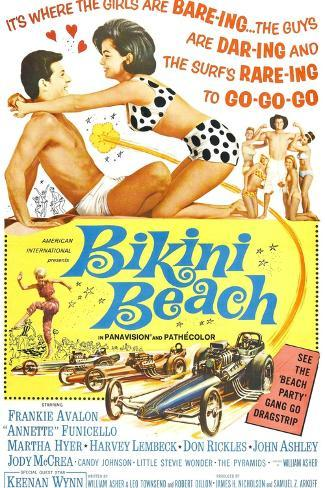 Bikini Beach, Frankie Avalon, Annette Funicello, 1964 Kunsttrykk